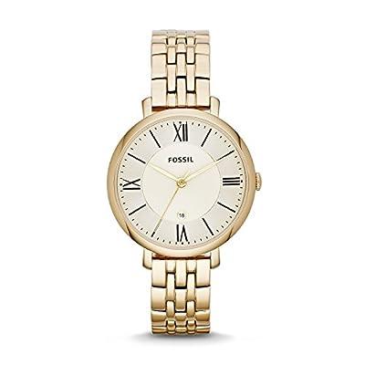 Fossil Jacqueline - Reloj de cuarzo para mujer, con correa de acero inoxidable, color dorado
