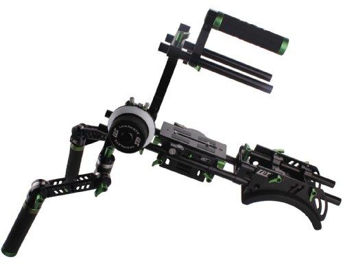 DSLR Rig Professionelle Kamera Kit A/B Follow Focus Gelenkige Reibung Handgriff Griff Grip Grundplatte Schulterpolster - Shoulder Rig Support