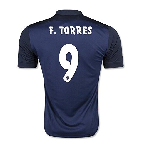 2016 beliebtes Teams Atletico Madrid 9 Fernando Torres Away Jersey in Marineblau Medium navy (Drucken Marine-blau-jersey)