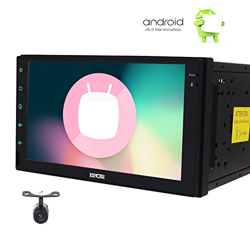 EINCAR hintere Kamera enthalten! Android 6.0 System 7 Zoll Doppelt-Lärm-Auto-Video-Player Bluetooth GPS Navigation Digitale Voll Multiple Touch-Screen-Auto-PC Tablet Quad-Core-CPU WiFi Mirrorlink -