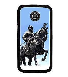 PrintVisa Statue Of Maharana Pratap High Glossy Designer Back Case Cover for Motorola Moto E2 :: Motorola Moto E Dual SIM 2nd gen :: Motorola Moto E 2nd Gen 3G XT1506 :: Motorola Moto E 2nd Gen 4G XT1521