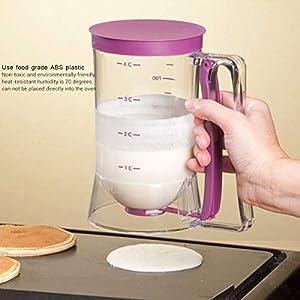 Hihey High Cake Dough Cream Dispenser 900ml Válvula Herramienta de medición Cupcake Pancake Muffin Dough Dispenser… 7