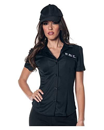 Horror-Shop FBI Kostümbluse als Berufskostüm für Damen ()