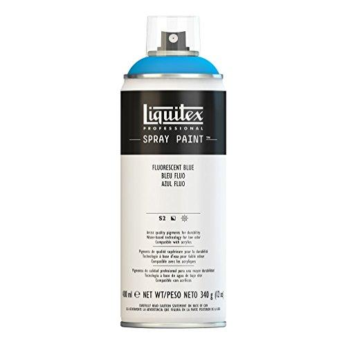 al Spray Paint - Acrylfarbe, Farbspray auf Wasserbasis, lichtecht, 400 ml - Blau - fluoreszierend (Blau-spray)