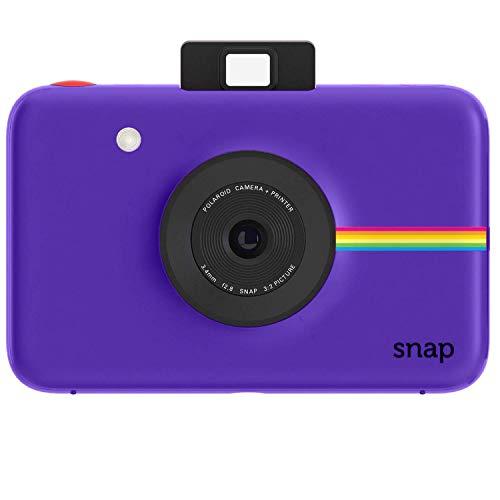 Polaroid Snap - Cámara digital instantánea, tecnología de impresión Zink Zero Ink, 10 Mp, Bluetooth, micro SD, fotos de 5 x 7.6 cm, púrpura