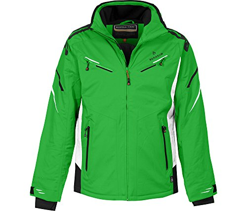 Bergson Herren Skijacke District, Classic Green White  2210 , 50 - Herren ca927a9299