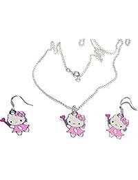 b82e414f59a1 Bijoux Kids Juego Plateado Joyas Mujer Infantil Hello Kitty Varita mágica
