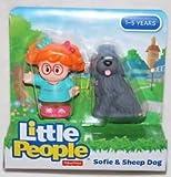 Set of 2 New Little People Figures - Sofie &Sheep Dog + Eddie &Dog