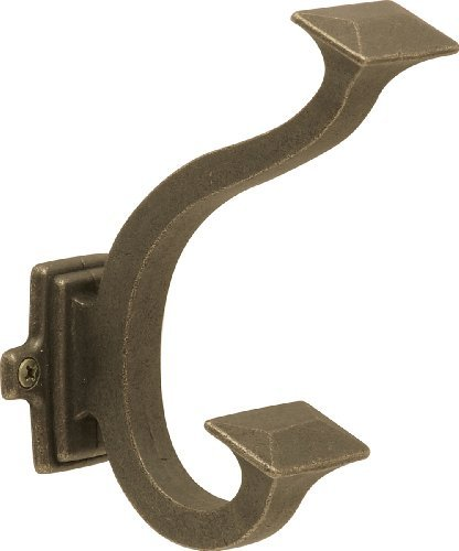 Hickory Hardware Bungalow Hook - Windover Antique (P2155-WOA) by Hickory Hardware -