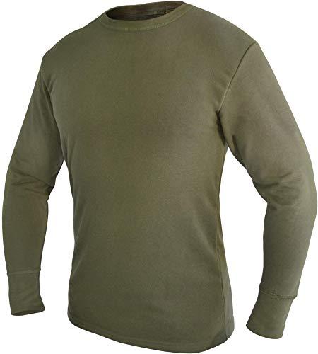 normani Bundeswehr Thermohemd Unterhemd Langarm mit Innenfrottee Farbe Oliv Größe 7
