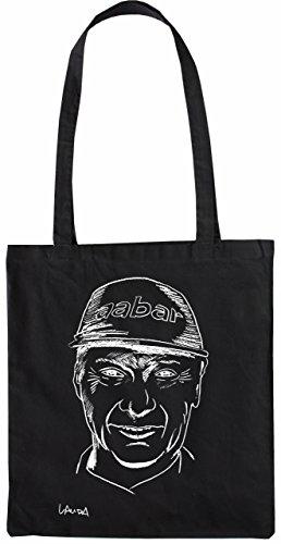 Mister Merchandise Tote Bag Niki Lauda Borsa Bagaglio, Colore: Nero