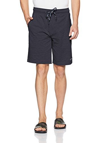 Van Heusen Athleisure Men's Relaxed Cotton Shorts (50001_Graphite_Small)