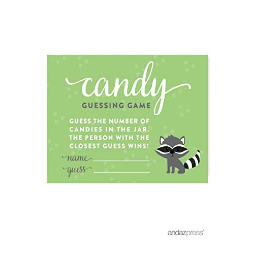 Andaz Drücken Woodland Forest Baby Dusche Collection Cards Candy Guessing Game