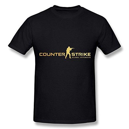 Dzzlee Clothes Herren T-Shirt Gr. XL, Schwarz - Schwarz (Strike Ps3 Counter Global)