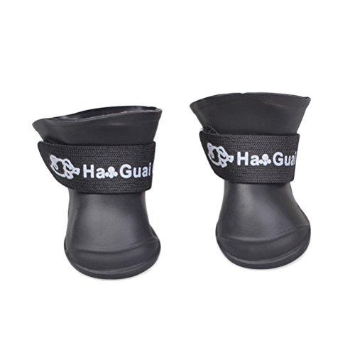 UEETEK Mignon Kleine Hunde Welpen rutschfest Regen-Stiefel Schnee Sucrerie Farben Gummi Stiefel Wasserdicht Schuhe-Größe S (violett) (Gummi-stiefel Welpen Für)