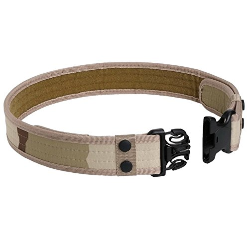 Tactical Belt for Men, YouGer Police Belt for Combat Combat Adjustable with Quick Release Buckle for Outdoor Hunting, Hiking (Desert)