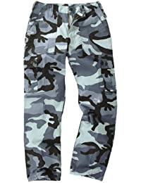 Youths / Kids Military Combat Cargo Trousers - Camo