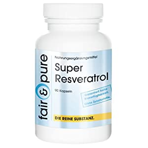 Super Resveratrol - Natural Trans-Resveratrol from Knotweed with Bioflavonoids - In Pure Form - No Additives or Excipients - 90 Vegetarian Capsules