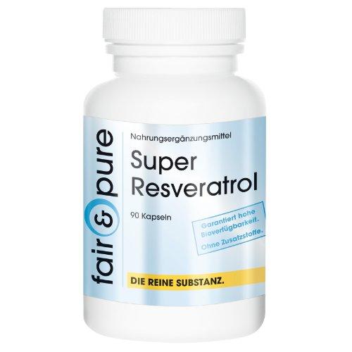 Trans-resveratrol (Super Resveratrol, 100mg natürliches Trans-Resveratrol aus Knöterich-Extrakt mit den Bioflavonoiden Rutin, OPC und Quercetin, vegan, ohne Magnesiumstearat, 90 Kapseln)