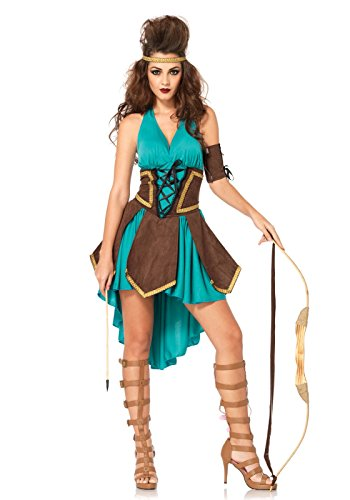 Leg Avenue 85203 - Celtic Warrior Kostüm Set, 3-teilig, Größe S/M, (Halloween Celtic Kostüme)