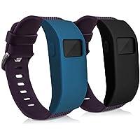 kwmobile 2en1: 2X Funda de Brazalete Deportivo para Fitbit Charge/Charge HR Dimensiones Interiores