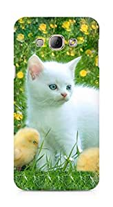 Amez designer printed 3d premium high quality back case cover for Samsung Galaxy A8 (Cat kitten)