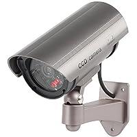 IR-LEDs /& LED rot 2er Set Kamera Attrappe Fake Dummy Innen Außen Überwachung