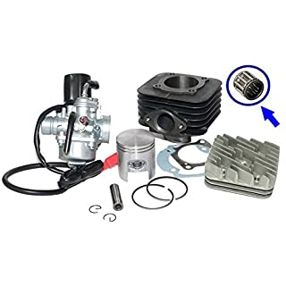 BIG BORE 70cc CYLINDER BARREL CARB KIT HEAD for GILERA EASY MOVING ICE50 ICE 50