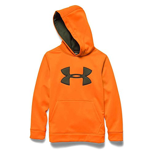 Under Armour Youth Camo Big Logo Hoody Blaze Orange / Greenhead Large (Blaze Hoody)