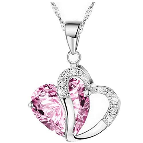 Dorical Damen 925 Sterling Silber 3A Zirkonia Halskette exquisite Geschenk/Frauen Halskette Beliebte Schmuck dchen Geschenk Promo(G)