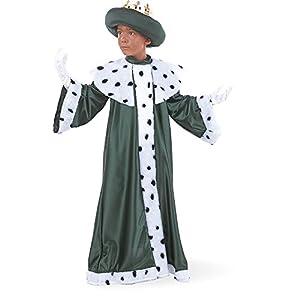 Limit Sport - Disfraz de Rey Baltasar con corona para niños (MI076)