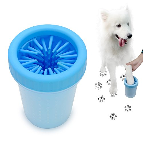 ESEOE Dog Paw Cleaner, Dog Foot Washer Portable Pet Cleaning Soft Silicone Brushes Get Rid of Muddy Paws(Large)