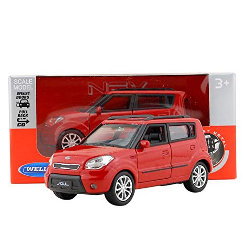 Back Modellauto, 1:36 Kia Soul SUV Musik & Flash Spielzeugauto, Alloy Diecast Automodelle KIA Soul Modellautos Pull Back Auto Spielzeug ()