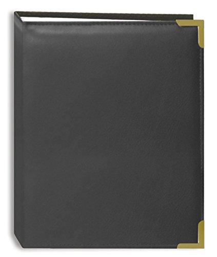 Pioneer Foto Alben 100Pocket GRAY genäht Kunstleder Cover mit Messing Ecke Akzente Foto Album für Prints, 4von 6 (Akzente Genähte)