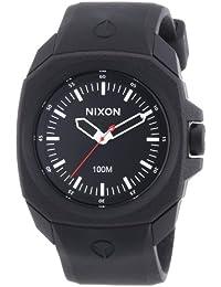 Nixon  0 - Reloj de cuarzo para hombre, con correa de plástico, color negro