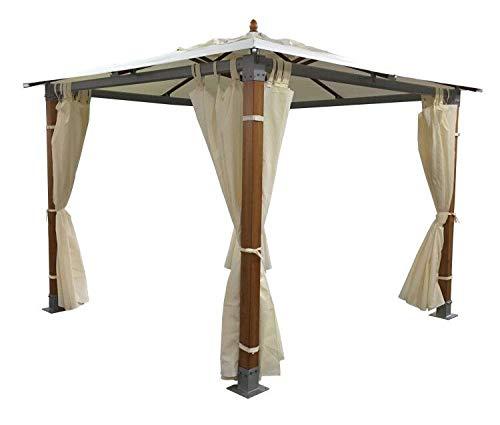 Salón Tienda Online Gazebo Top Aluminio Madera Aluminio m 3 x 3 Impermeable: Amazon.es: Jardín