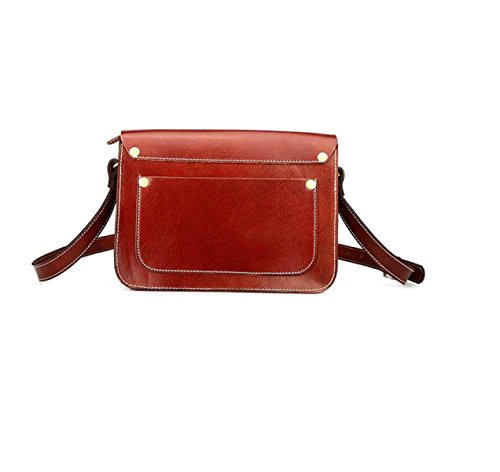 MYLL Retrò Signore Deposito Di Cuoio Di Modo Delle Donne Shoulder Bag Messenger Pacchetto ReddishBrown
