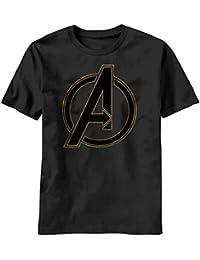 Marvel Avengers Out Logo Homme Noir T-Shirt   S