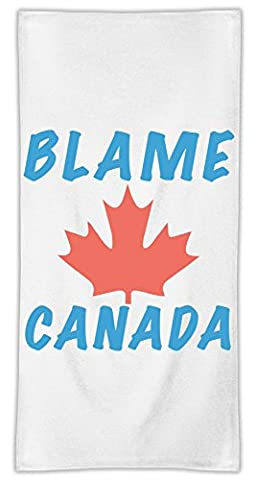 Blame Canada Mikrofasertuch MicroFiber Towel W/ Custom Printed Designs| Eco-Friendly Material| Machine Washable| 70x150 cm| Premium Bathroom Supplies By