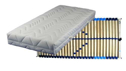 Set bestehend aus: Breckle Vital Spring 5-Zonen Taschenfederkernmatratze in 100x200 cm im Härtegrad 2 / H2 plus Lattenrost COMFORT-FLEX verstellbar in 100x200 cm - sofort lieferbar