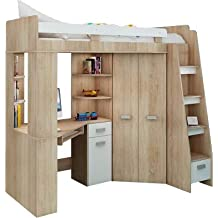 Suchergebnis Auf Amazonde Für Hochbett Mit Schreibtisch Und Schrank