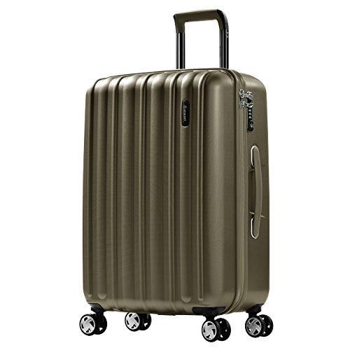 Eminent glam ii bagaglio medio leggero | 65x44x27cm 71l valigia check-in policarbonato rigido | 4 ruote 360° silenziose | lucchetto tsa e impugnatura telescopica ergonomica & design brillante glam