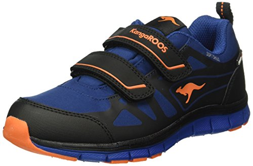 KangaROOS Unisex-Kinder Tchuma Low-Top Blau (royal Blue/orange 476)