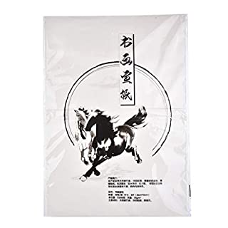 Quantum Abacus Traditionelles Papier für chinesische/japanische Kalligraphie, weiß, 36cm x 52cm (großes Quart-Format, ähnlich A3), 30 Seiten, Art. PP-02 Z53104