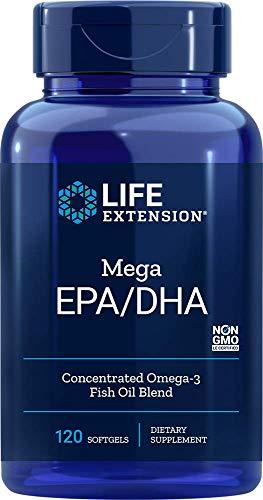 Life Extension Mega Epa Dha Softgels, 120 Count