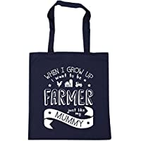 HippoWarehouse When I Grow Up I Want to be a Farmer Just Like My Mummy kids unisex jumper sweatshirt pullover Tote Shopping Gym Beach Bag 42cm x38cm, 10 litres