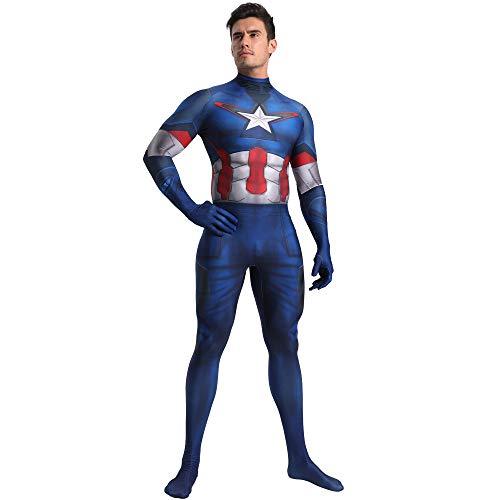 SHANGN Spiderman-Kostüm, Kostüm Für Kinder Für Erwachsene, Cosplay Captain America, Halloween-Rollenspiel-Body,Child-S (Kostüm America Captain Halloween Weiblich)