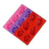 28.5 * * 2.5cm Stampo in Silicone 16 6 Santa Anche Un Mezzo Casuale Colore Feste e Compleanni Natale Centritavola per Aumentare l'atmosfera del Giorno di Natale