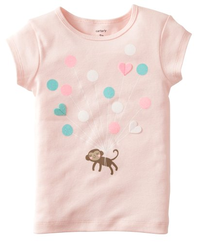 Carter's T-Shirt in rosa mit Luftballon Design und tollen Herz-Applikationen, Creme, Rosa, 74 (Carters Mädchen-creme)