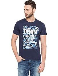 Globus Camouflage Typography Print T-Shirt